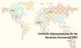 Comisión Interamencana de los Derechos Humanos(CIDH)