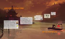 ANCIENT CHINA LAW