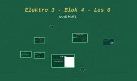 Elektro 3 - Blok 4 - Les 6