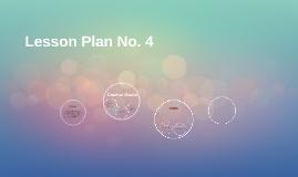 Lesson Plan No. 4