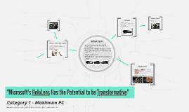 Computer Media File - Microsoft HoloLens