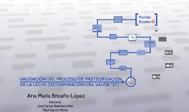VALIDACIÓN DEL PROCESO DE PASTEURIZACIÓN DE LA LECHE (DETERM