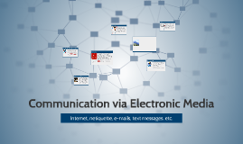 Communication via Electronic Media