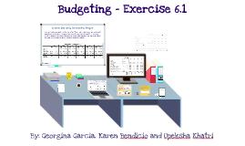 ACCT231 Budgeting - EX6.1