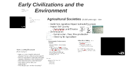Early Civilizations and the Environment