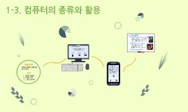 1-3 컴퓨터의 종류와 활용
