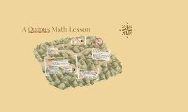 A Quipus Math Lesson