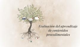 Evaluación del aprendizaje de contenidos procedimentales