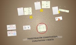INVESTIGACION CUANTITATIVA, CUALITATIVA Y MIXTA