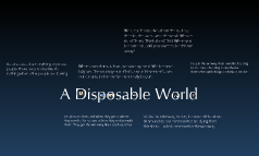 Disposable World