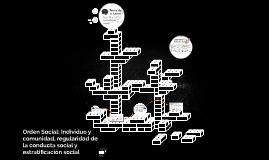 Orden Social: Individuo y comunidad, regularidad de la condu