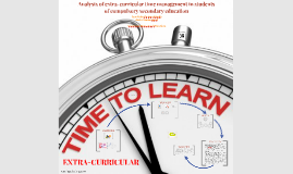 Analysis of extra-curricular time management in students of compulsory secondary education