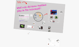 Copy of Yr9: SPR1: L3: What role did some Muslims play in the Holocaust?