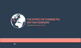 The effect of Chinese FDI on Thai economy