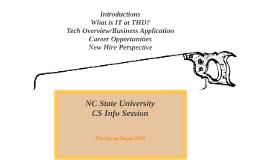 NC State University CS Info Session