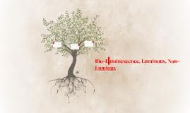 Bio-Luminescence, Luminous, Non-Luminous