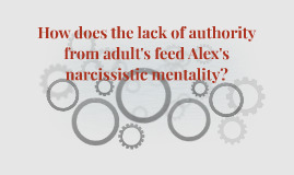 How does the lack of authority from adult's feed Alex's narc