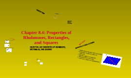GEOMETRY: Chapter 8.4; Properties of Rhombuses, Rectangles, and Squares