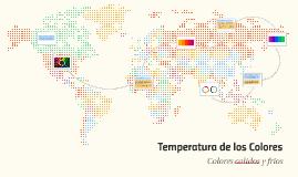 Temperatura de los Colores