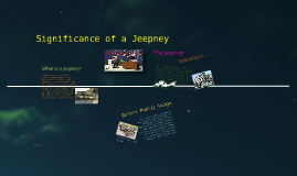 Significance of a Jeepney