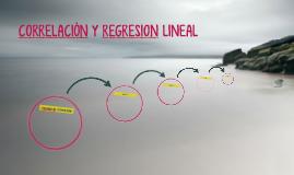CORRELACIÓN Y REGRESION LINEAL