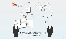 SISTEMA DE GARANTÍA DE CALIDAD UMH