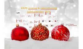 KAPE proces & rekruttering Julekalender 2015
