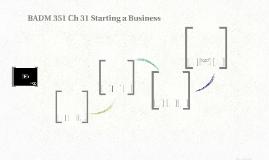 BADM 351 Ch 31 Starting a Business