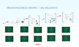 Programación Economía 1º Bachillerato