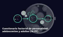 16 FACTORES DE PERSONALIDAD