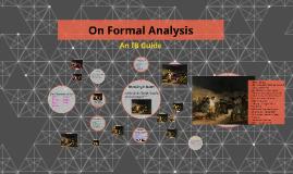 On Formal Analysis