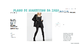 Plano de Marketing da Zara