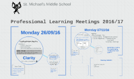 Professional Learning Meetings