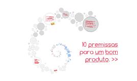 10 premissas para um bom produto