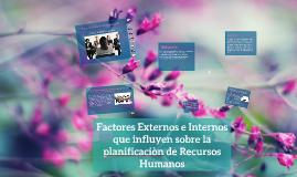 Factores externos e internos que influyen sobre la planificación de los Recursos Humanos