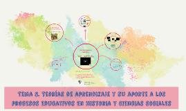 Tema 3. Teorías de aprendizaje y su aporte a los procesos ed