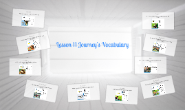 Lesson 11 Journey's Vocabulary