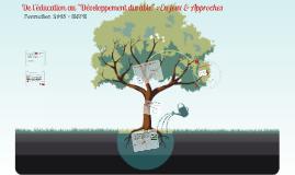 Formation ESPE Démarche Projet 2015