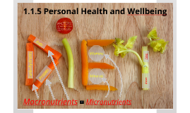 1.1.5 Personal health and well being