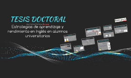 Análisis tesis doctoral