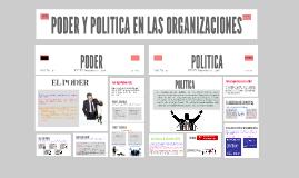 PODER Y POLITICA EN LAS ORGANIZACIONES