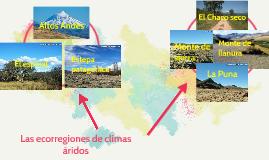 Las ecorregiones de climas aridos