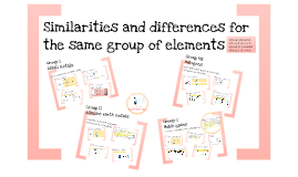 Similarities and differences for the same group of elements
