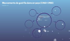 Conditions - Mouvements de guérilla dans un pays (1960-1980)