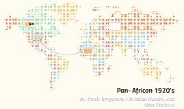 Pan- African 1920's