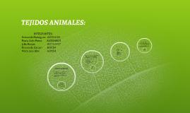 TEJIDOS ANIMALES: