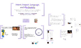 ACUI - Intent, Impact, Language and #Inclusivity