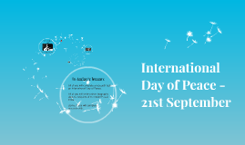 International Day of Peace - 21st September