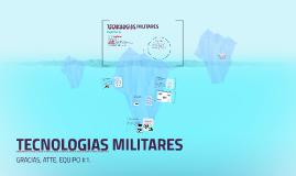 TECNOLOGIAS MILITARES