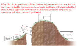 Why did the progressives believe that strong government acti